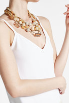 Alexis Bittar Beaded Triple Strand 10K Gold Necklace