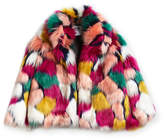 Milly Minis Faux-Fur Jacket, Multi, Size 8-14
