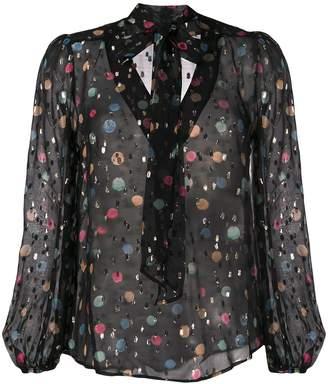 Rixo Moss abstract-print blouse