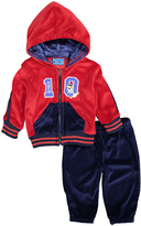 Sweet & Soft Red '10' Velour Zip-Up Hoodie & Pants - Infant