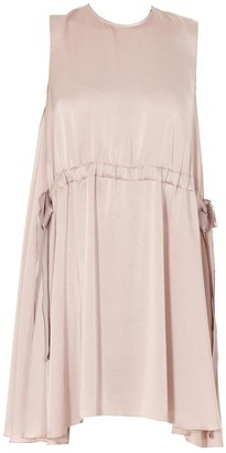 RED Valentino Drawstring Babydoll Dress