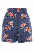 Petite tiger print shorts