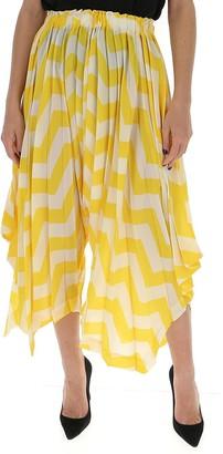 Issey Miyake Asymmetric Pleated Pants