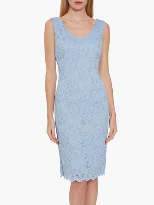 Gina Bacconi Giovanna Lace Shift Dress, Nordic Blue