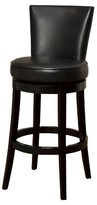 "Nobrand No Brand Boston Swivel Leather 30"" Barstool Hardwood/Black - Armen Living"
