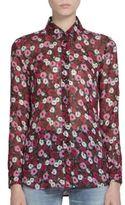Saint Laurent Poppy Button Front Blouse