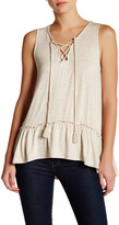 Max Studio Hi-Lo Lace-Up Tank