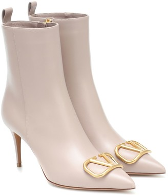 Valentino VLOGO leather ankle boots