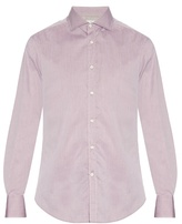 Brunello Cucinelli Spread-collar Cotton-piqué Shirt