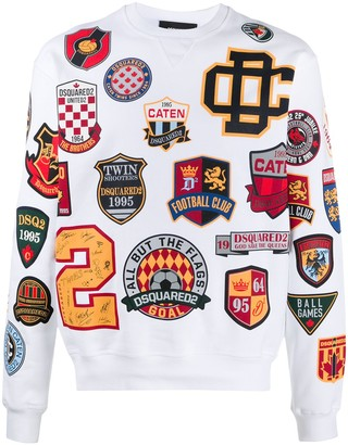 DSQUARED2 Logo Patch Sweatshirt