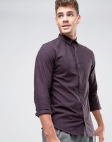 Jack and Jones Slim Shirt In Brush Finish