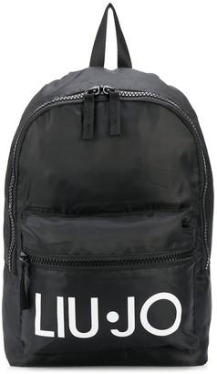 Liu Jo Logo-Print Zipped Backpack