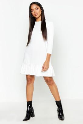 boohoo Jersey Ruffle Hem Shift Dress