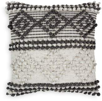 """Surya Anders Textured Black & White Throw Pillow, 18"""" x 18"""""""