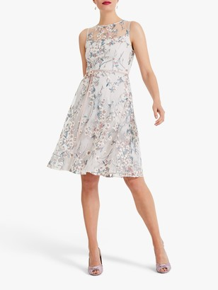 Phase Eight Maddy Fit and Flare Dress, Oyster