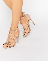 Missguided Knot Front Heeled Sandal