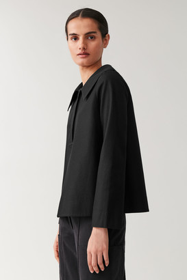 Cos Oversized-Collar Cotton Top