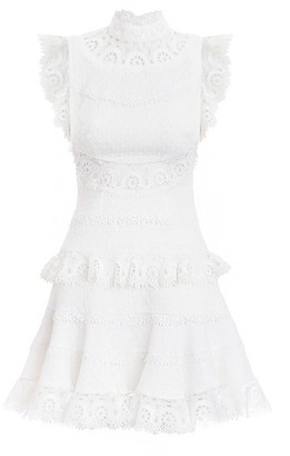 Zimmermann Peggy Embroidered Short Dress