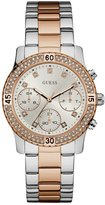 GUESS Silver and Rose Gold-Tone Sport Watch