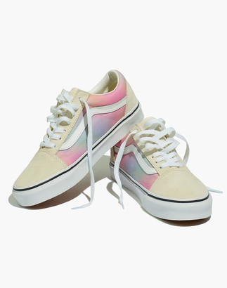 Madewell Vans Unisex Old Skool Lace-Up Sneakers in Rainbow Ombre Canvas