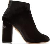 Charlotte Olympia Black Velvet Alba Boots