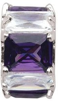 Persona Conversation Purple & White Crystal Charm fits Pandora, Troll & Chamilia European Charm Bracelets