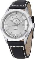 Zeno Silver Dial Black Leather Strap Men's Watch