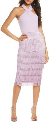 Lavish Alice Halter Fringe Dress
