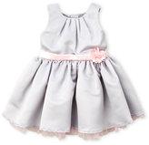 Nanette Lepore Infant Girls) Pleated Tulle Trim Dress