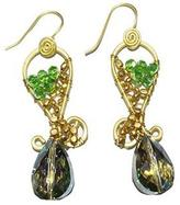 Ananda Crystal Brass-Beaded Earrings