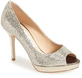 Jimmy Choo Women's Luna Peep Toe Pump