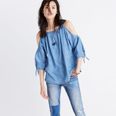 Madewell Indigo Cold-Shoulder Top