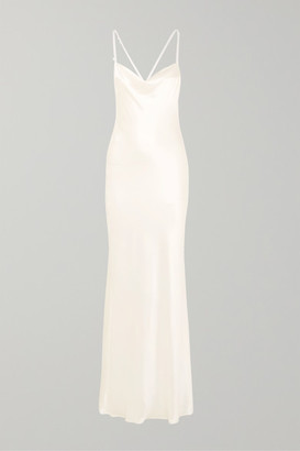 Galvan Whiteley Silk-satin Gown - Ivory