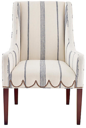 Imagine Home Chelsea Accent Chair - Ivory/Navy