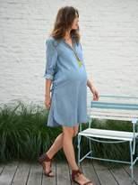 Vertbaudet Denim-Effect Maternity Dress