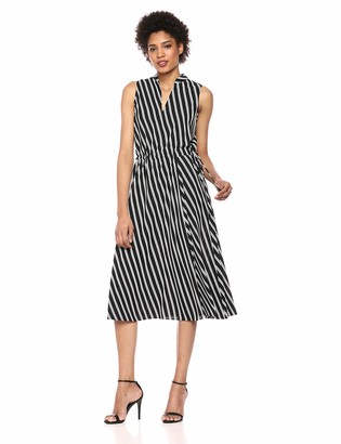 Anne Klein Women's Drawstring MIDI Dress