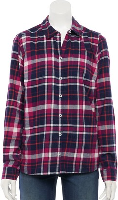Croft & Barrow Women's Plaid Flannel Shirt