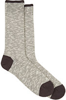 Barneys New York Men's Mélange Cotton-Blend Trouser Socks