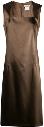 Bottega Veneta Sleeveless Shift Midi Dress