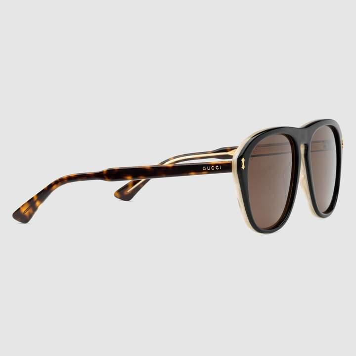 Gucci Aviator acetate sunglasses