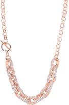 Love Rocks Crystal & Rose Goldtone Link Necklace
