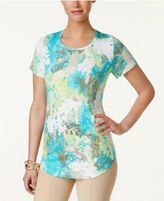 JM Collection Printed Scoop-Neck Top, Only at Macy's