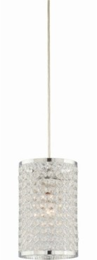 Volume Lighting 1-Light Cylindrical Hanging Mini Pendant