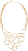 Lydell NYC Golden Pave Crystal Statement Bib Necklace