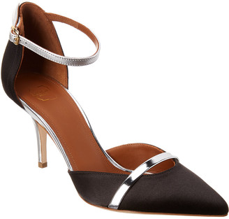 Malone Souliers Booboo 70 Satin & Leather Pump