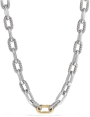 David Yurman Madison Chain Large Link Necklace with 18K Gold, 20""