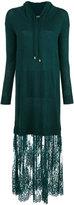 Twin-Set lace detail hooded dress - women - Polyamide/Viscose/Wool - S