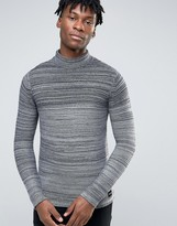 ONLY & SONS Mixed Yarn Ribbed High Neck