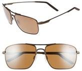 Revo Men's 'Groundspeed' 59Mm Polarized Aviator Sunglasses - Black/ Blue Water