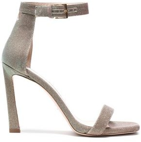 Stuart Weitzman Squarenudist Satin Sandals